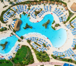 Large swimming pool from above