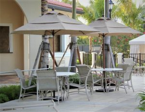 9ft fiberglass middle vent umbrella