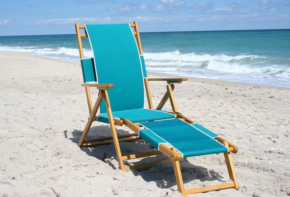 Light blue deck chair