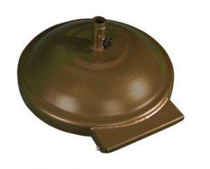 Wheeled aluminum round base