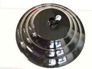 Black round base