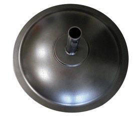 aluminum round base