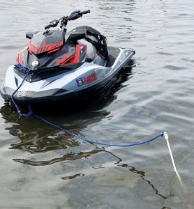 Anchor attached to jetski