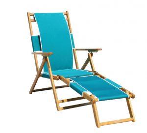 Light blue deckchair