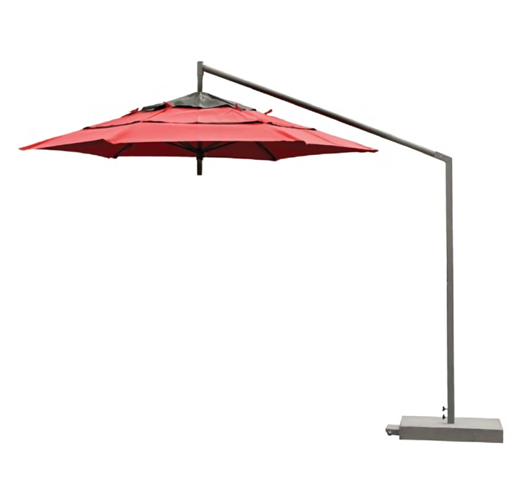 Red Cabtilever umbrella