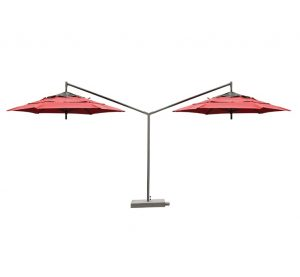 Red Cabtilever umbrellas
