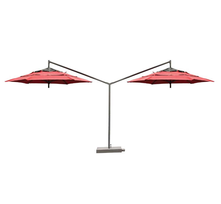 Red Cabtilever umbrellas