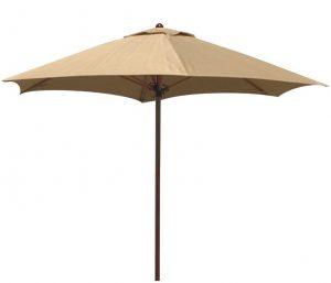 Beige umbrella