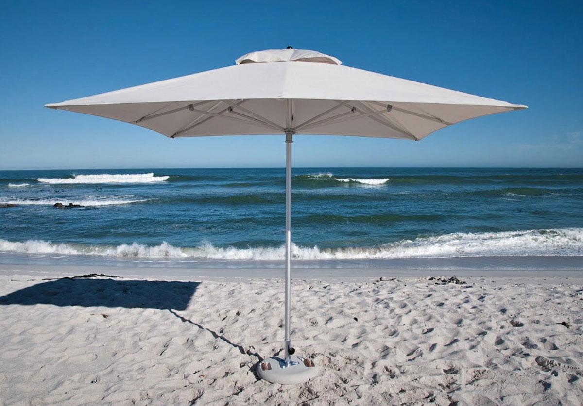 White umbrella on beach