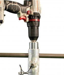 Drill attachment in anchor