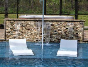 Furniture in swimming pool