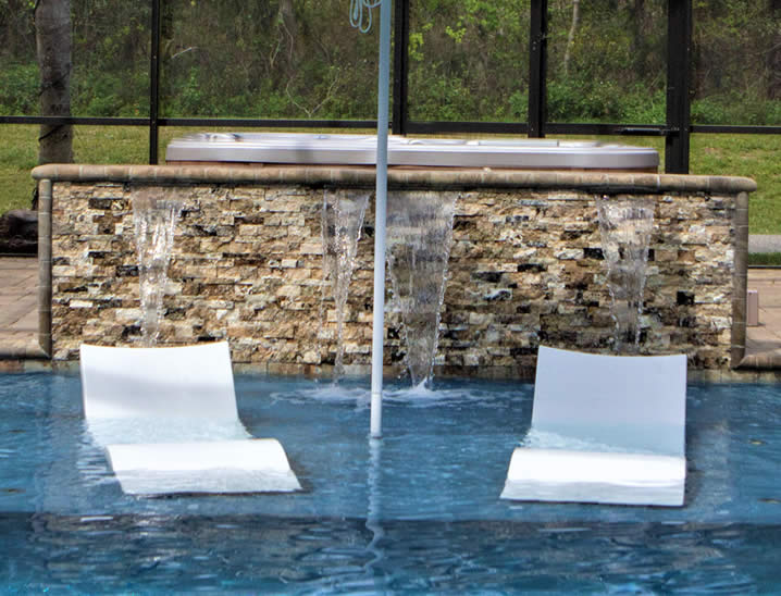 Furniture in swimming pool